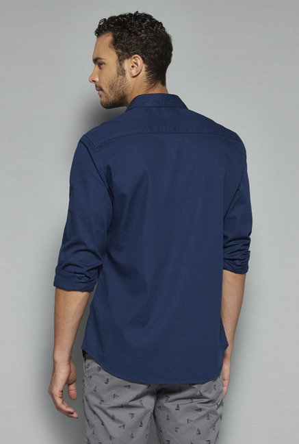 Westsport by Westside Indigo Solid Shirt