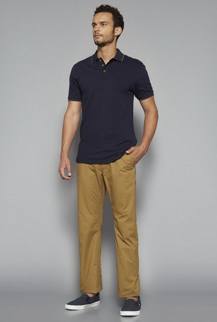 Westsport by Westside Tan Solid Chinos