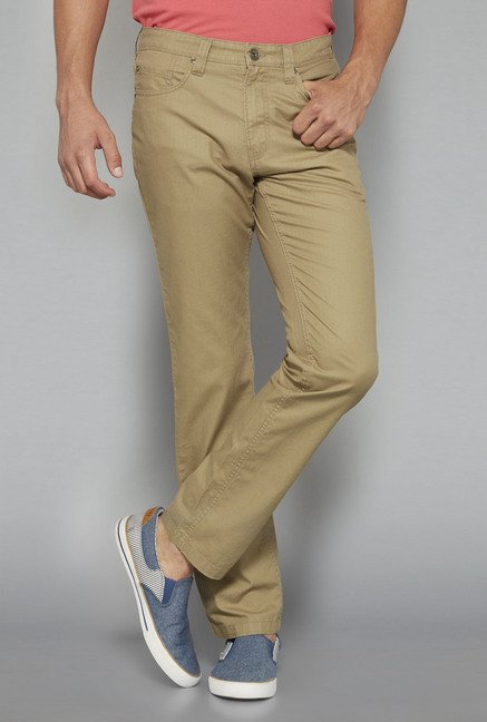 Westsport by Westside Khaki Solid Chinos