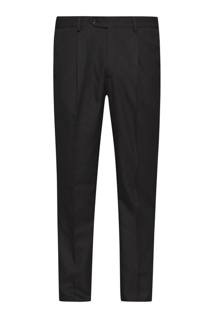 Weststreet by Westside Black Solid Trouser
