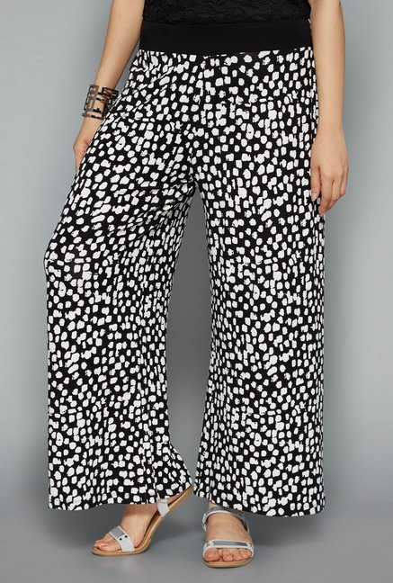 Gia by Westside Black Printed Palazzo
