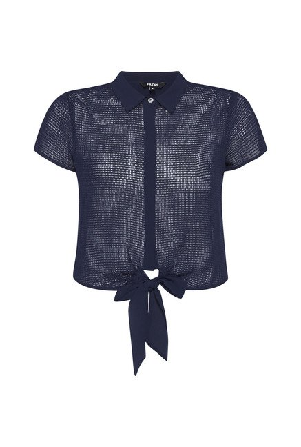 Nuon by Westside Navy Crochet Blouse
