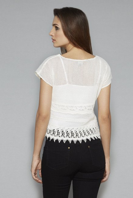 Nuon by Westside Off White Crochet Top