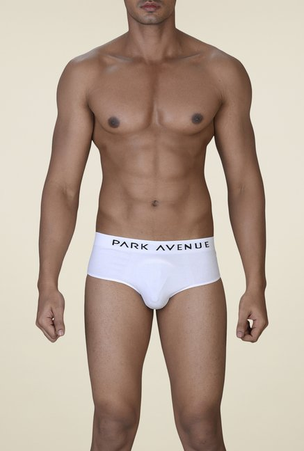 Park Avenue White Solid Briefs