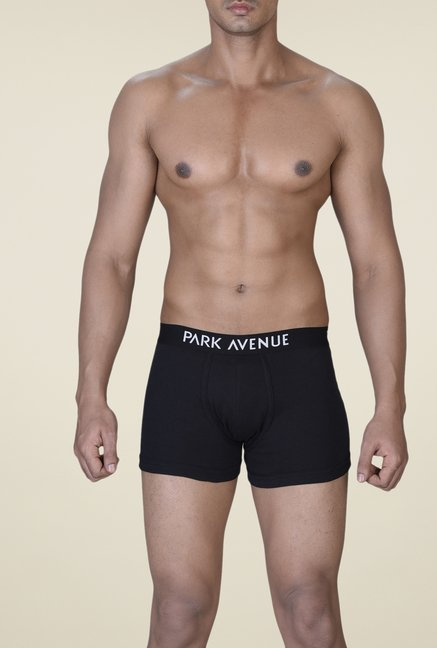 Park Avenue Black Solid Trunks