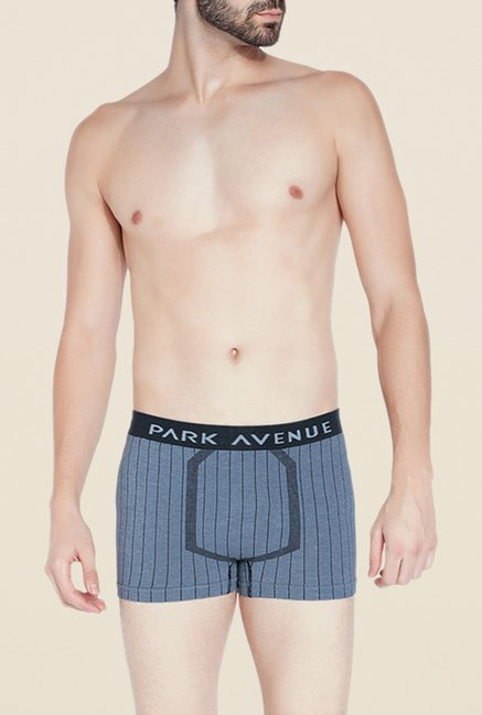 Park Avenue Blue Solid Trunks