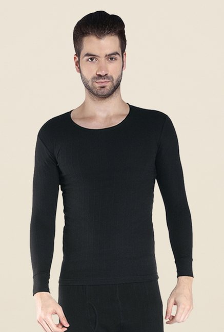 Park Avenue Black Textured T Shirt