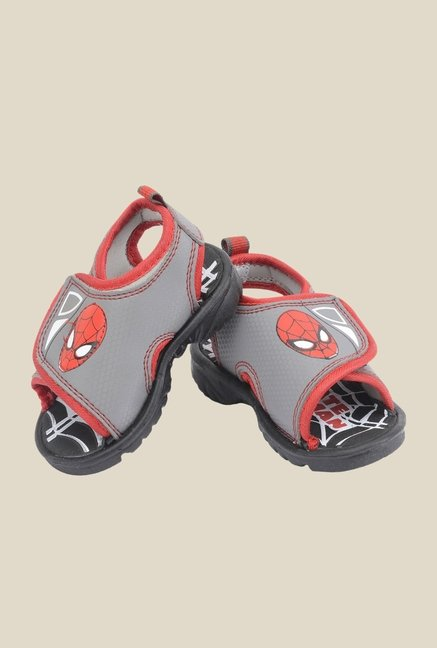 Spiderman Grey & Red Casual Sandals