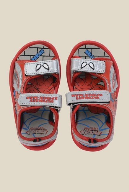 Spiderman Grey & Red Floater Sandals