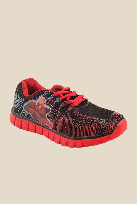 Spiderman Black & Red Casual Shoes