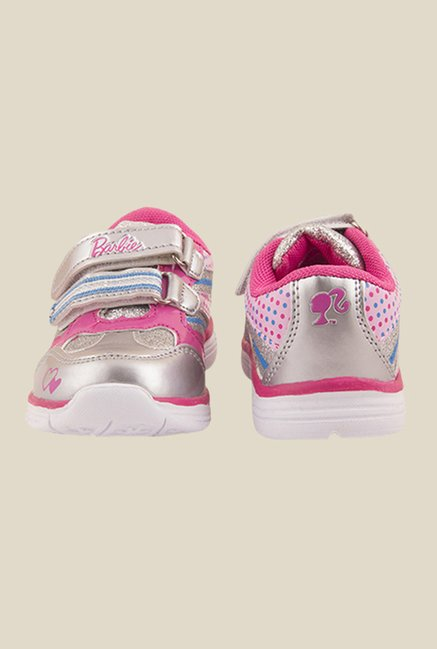 Barbie Silver & Magenta Casual Shoes