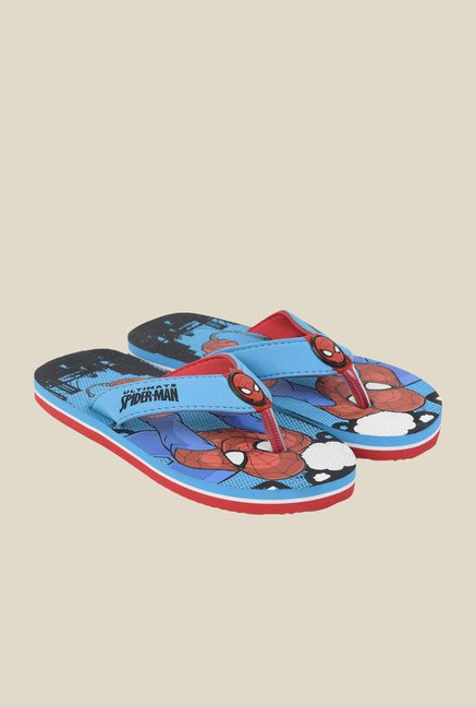 Spiderman Blue Flip Flops