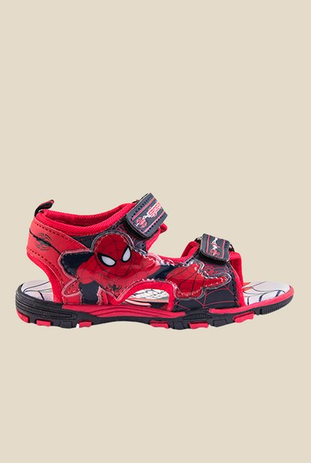 Spiderman Red & Navy Floater Sandals