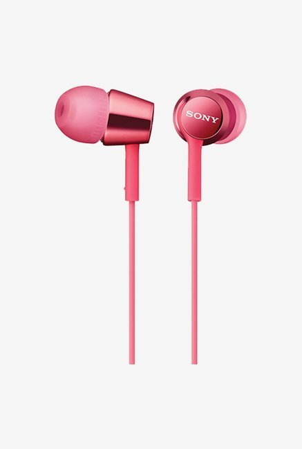 Sony MDR-EX150AP/P In The Ear Headphones with Mic (Pink)
