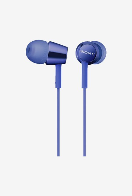 Sony MDR-EX150AP In the Ear Headphones With Mic (Blue)