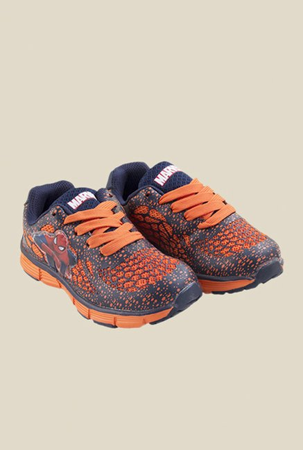 Spiderman Navy & Orange Casual Shoes