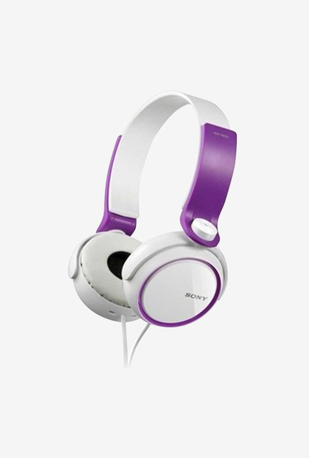 Sony MDR-XB250 Over the Ear Headphones (Purple)