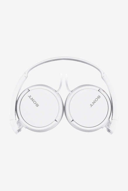Sony MDR-ZX110AP Over the Ear Headphones (White)