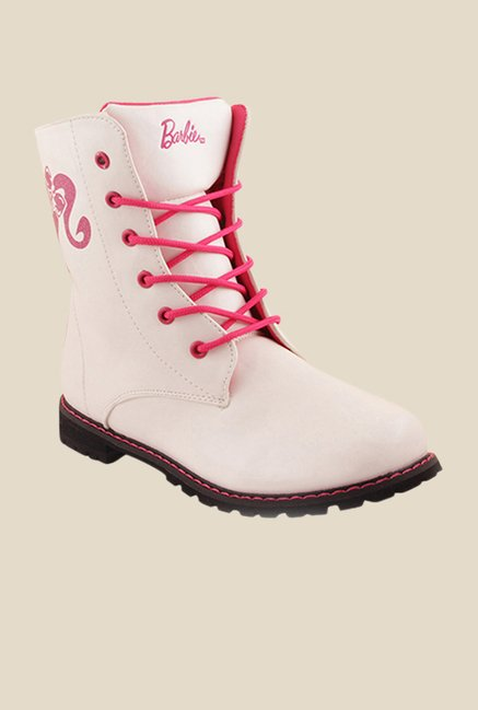 Barbie White Casual Boots
