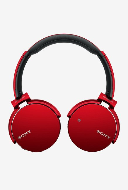 Sony MDR-XB650BT Over the Ear Bluetooth Headphones (Red)