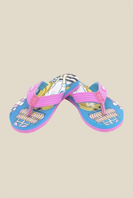 Barbie Pink & Sea Green Flip Flops