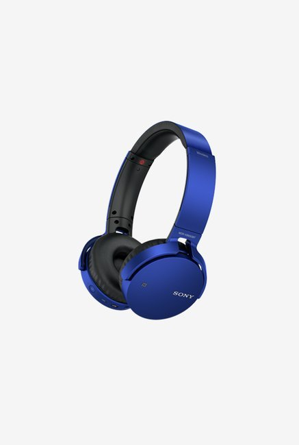 Sony MDR-XB650BT Over the Ear Bluetooth Headphones (Blue)
