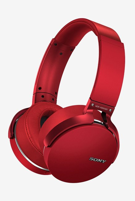 Sony MDR-XB950BT Over the Ear Bluetooth Headphones (Red)