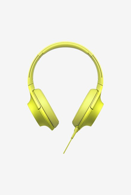 Sony MDR-100AAP Over the Ear Headphones With Mic (Yellow)