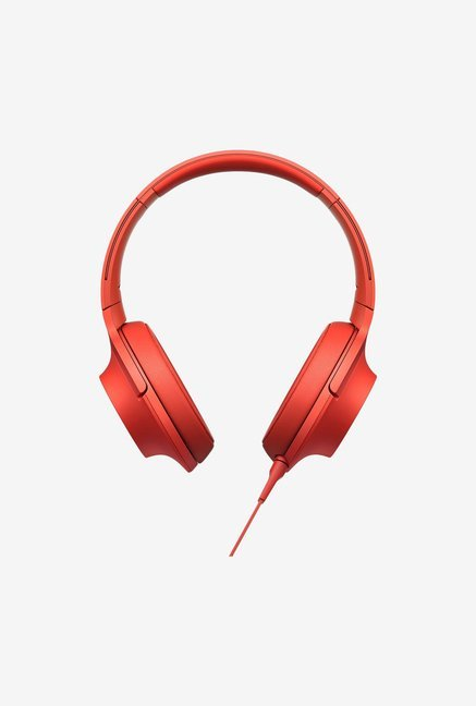 Sony MDR-100AAP Over the Ear Headphones (Red)