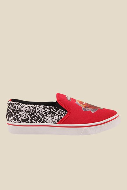 Spiderman Red & Black Plimsolls