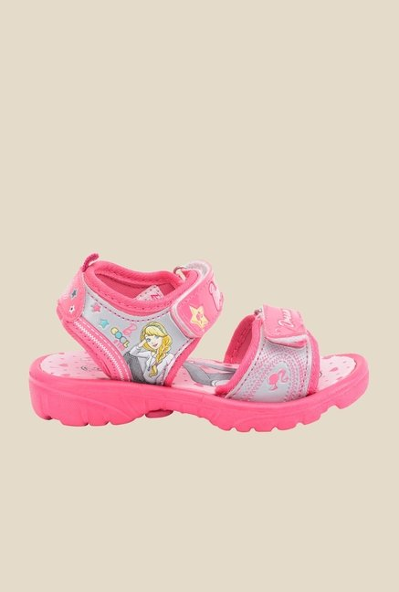 Barbie Pink & Grey Floater Sandals