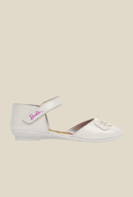 Barbie White Ankle Strap D'orsay Sandals