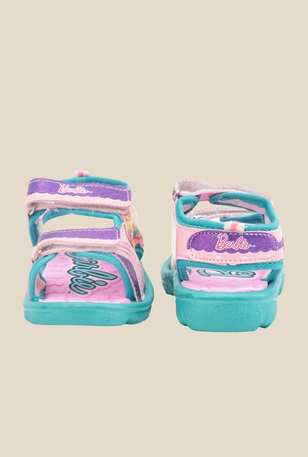 Barbie Pink & Turquoise Floater Sandals