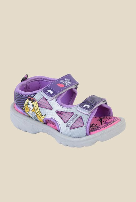 Barbie Purple & Grey Floater Sandals