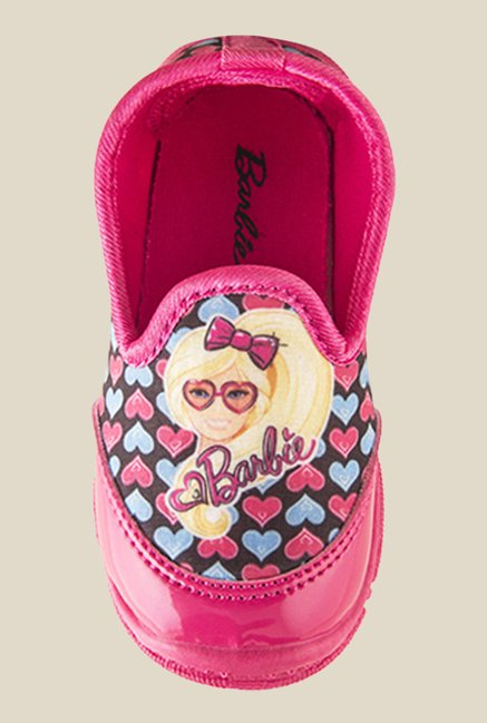 Barbie Heart Print Pink Shoes