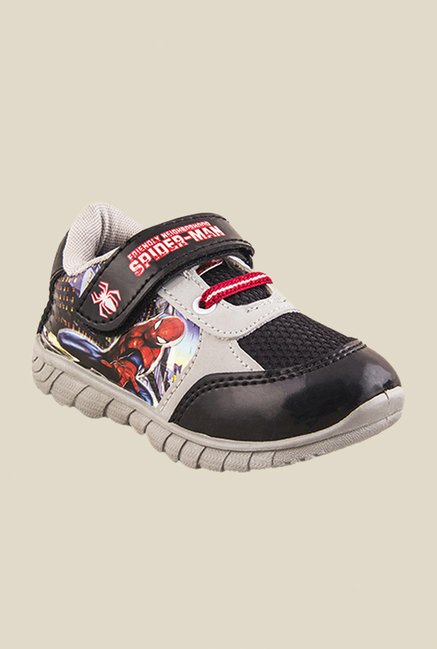 Spiderman Grey & Black Casual Shoes