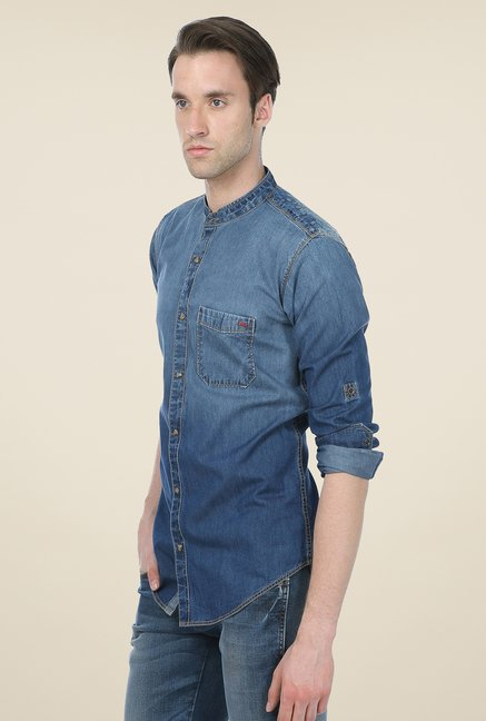 Basics Denim Blue Ombre Shirt
