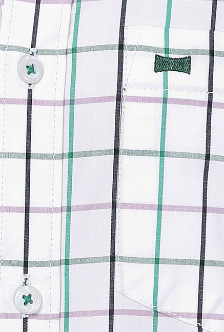 Basics White Checks Shirt