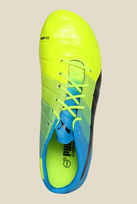 Puma EvoPower 1.3 Mixed SG Safety Yellow Running Shoes