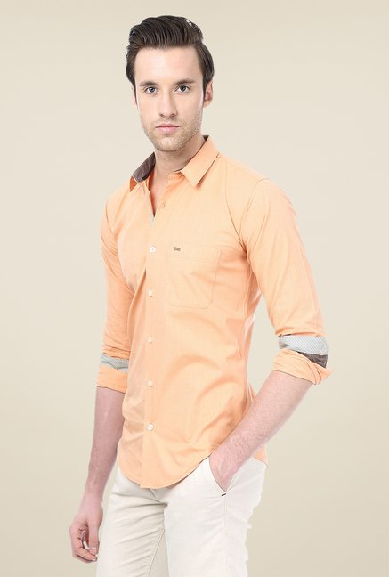 Basics Orange Striped Shirt