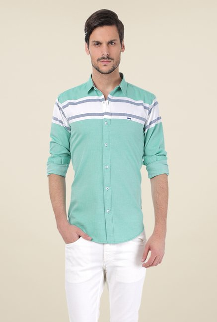 Basics Turquoise Striped Shirt