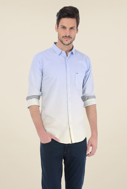 Basics Blue & Beige Ombre Shirt