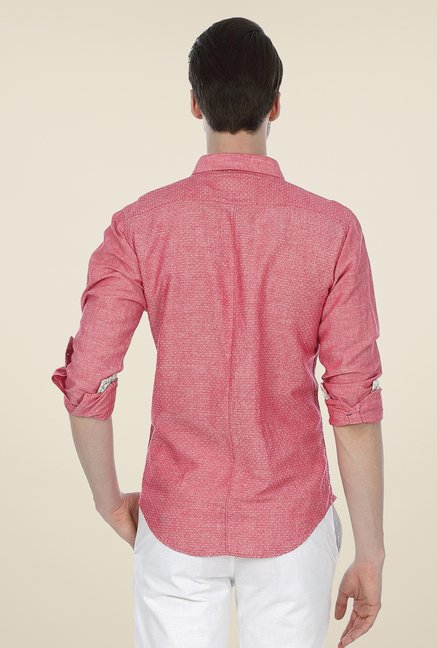 Basics Coral Self Print Shirt
