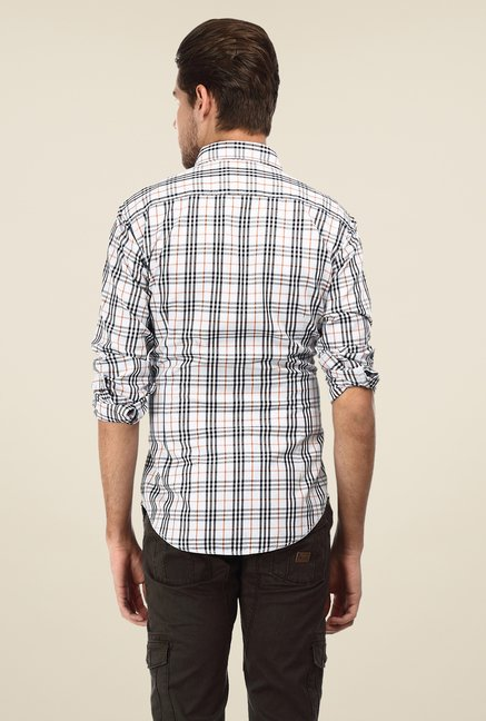 Basics Off White & Black Checks Shirt