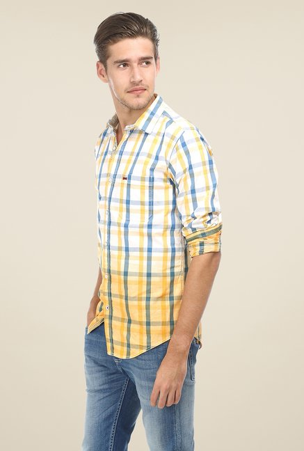 Basics Yellow & White Ombre Shirt