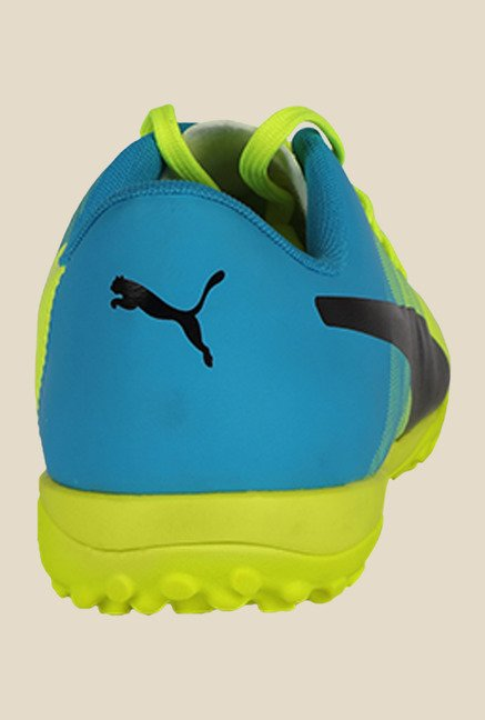 Puma EvoPower 4.3 TT Safety Yellow & Blue Football Shoes