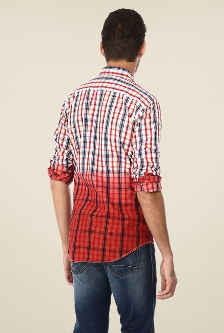 Basics Red & White Ombre Shirt