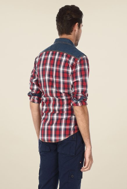 Basics Red & Blue Checks Shirt