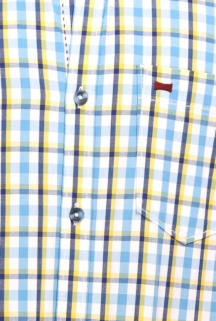 Basics Blue Checks Shirt