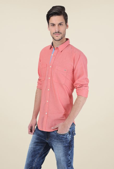 Basics Coral Solid Shirt